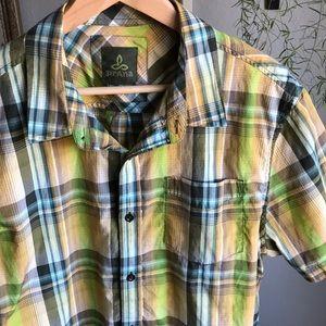 Prana Men's Plaid Short-Sleeve Shirt